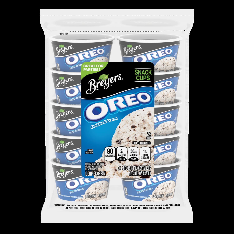 Oreo Cookies Cream Snack Cups Breyers