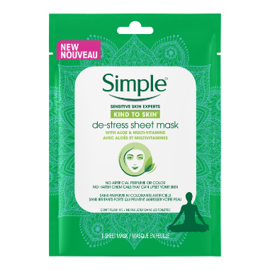 Simple Kind to Skin De-Stress Sheet Mask