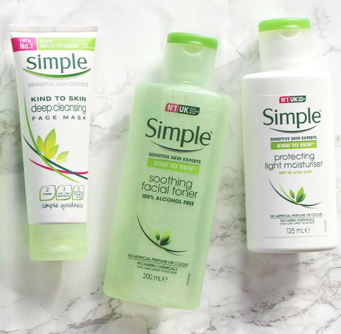 Simple Your daily skincare routine 700x686