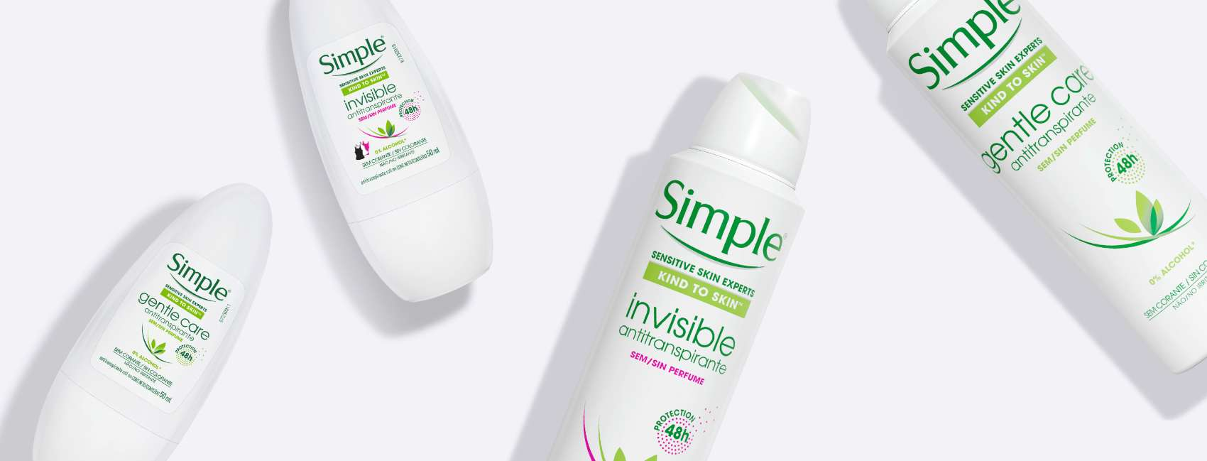 Simple Deodorants Flatlay four deodrants BANNER