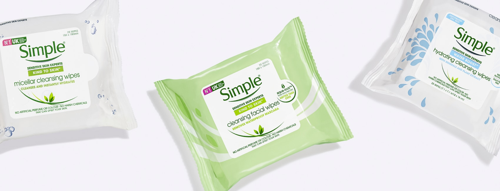 Simple facial cleansing wipes BANNER
