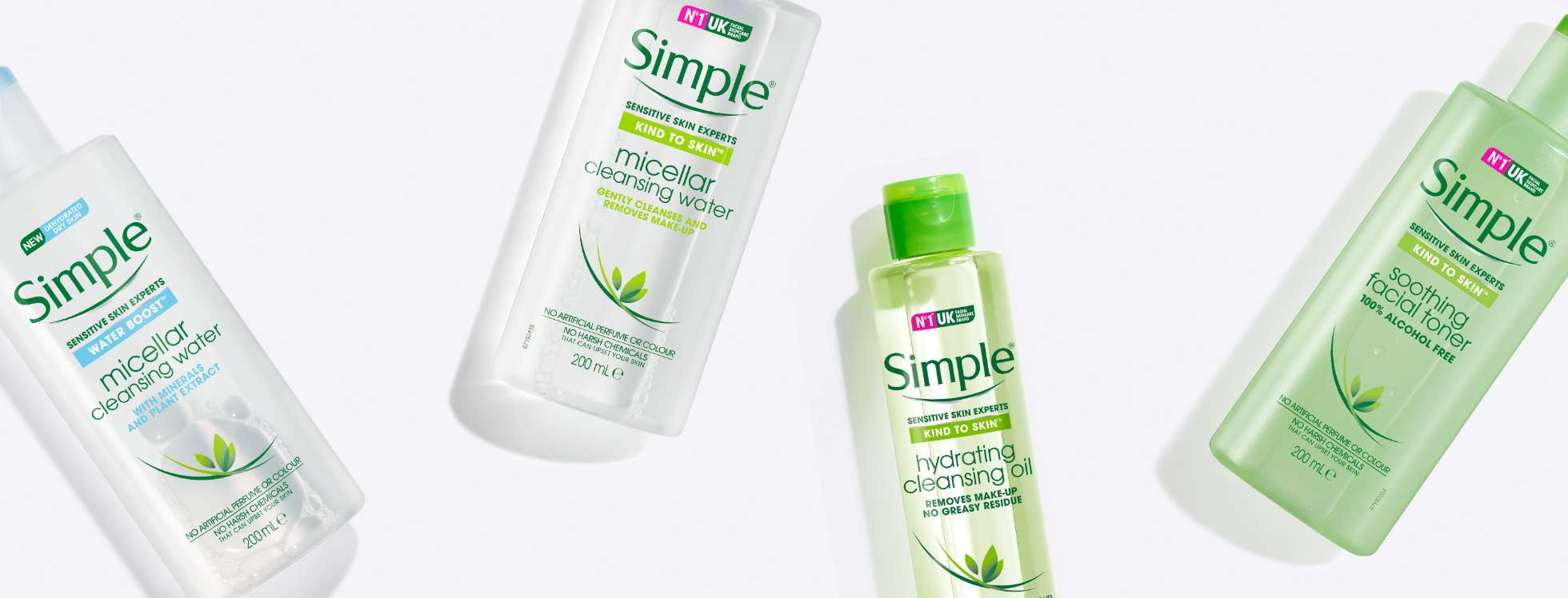 Simple cleanser and  toner BANNER