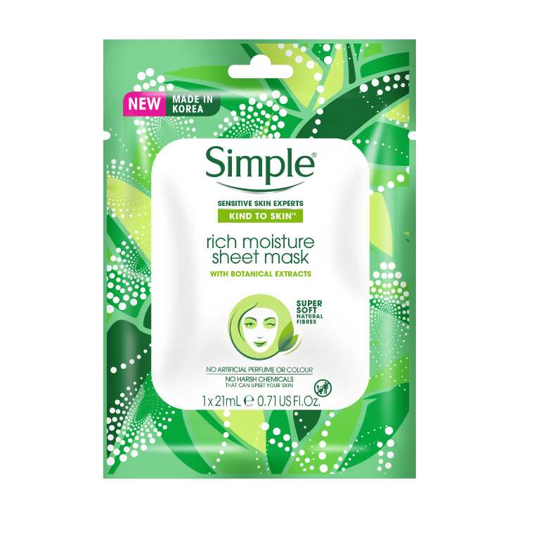 Simple Kind to Skin Rich Moisture Sheet Mask