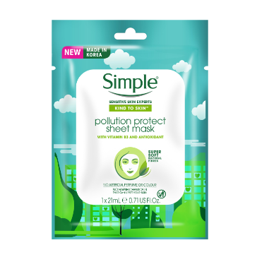 Simple Kind to Skin Pollution Protect Sheet Mask