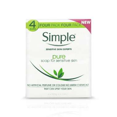 Simple Pure Soap Pack of 4