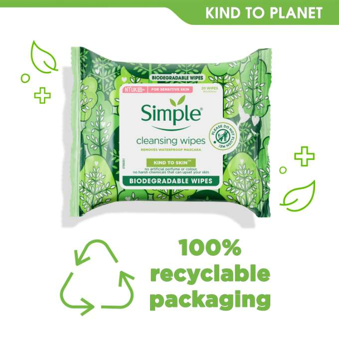 Simple Kind to Skin Bio Cleansing Wipes