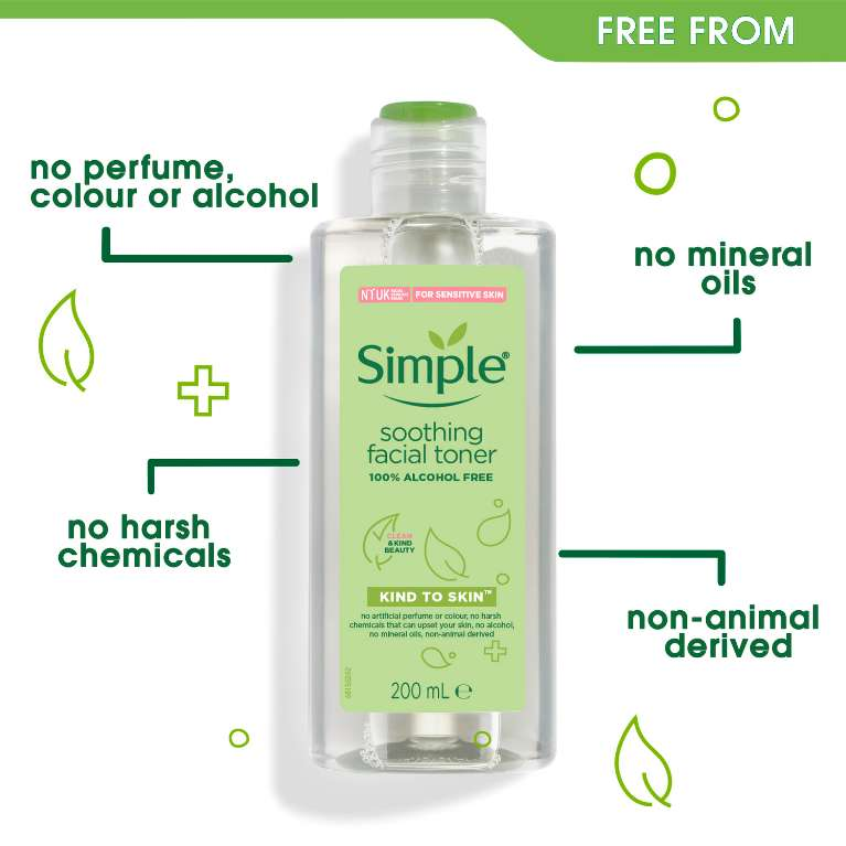 Nước hoa hồng Simple Smoothing Facial Toner | Simple® Skincare