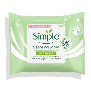 Khăn ướt tẩy trang Simple Cleansing Facial Wipes