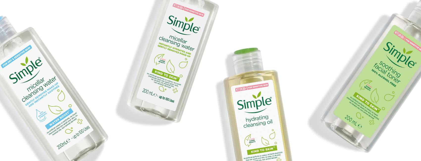 Simple face cleansers and toners BANNER