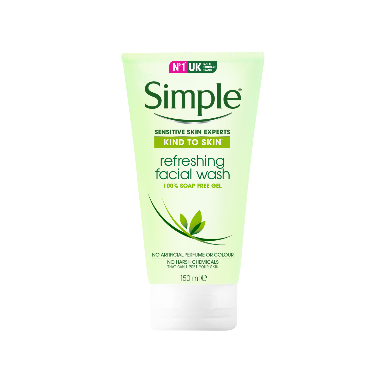 Simple Sabonete Facial Em Gel