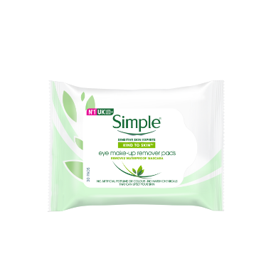 Simple® Kind to Skin Eye make-up Remover Pads