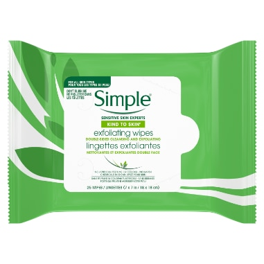 Simple Skind to Skin Exfoliating Facial Wipes