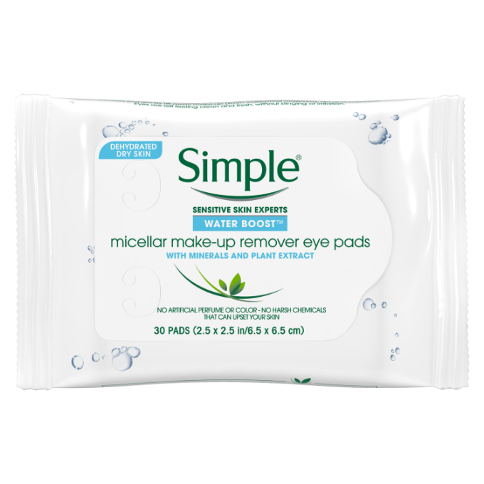 Simple Water Boost Micellar Make-up Remover Eye Pads