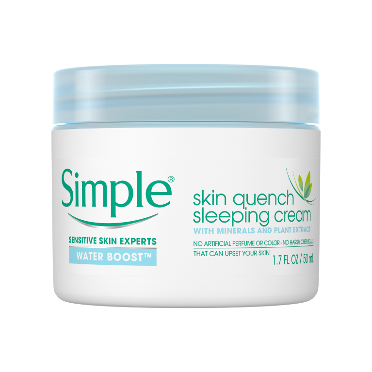 Simple Water Boost Skin Quench Sleep Cream