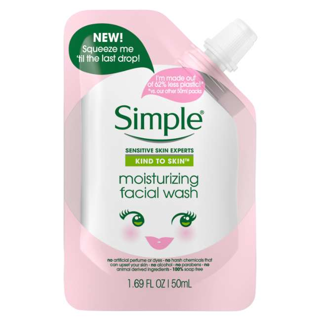 Simple Kind to Skin Mini Moisturizing Facial Wash
