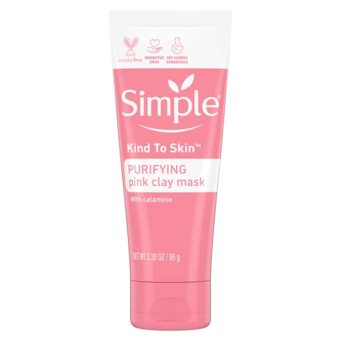 Simple Kind To Skin Purifying Pink Clay Mask w Calamine 3.38 oz