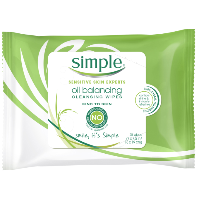 Simple Kind to Skin Oil Balancing Cleansing Wipes