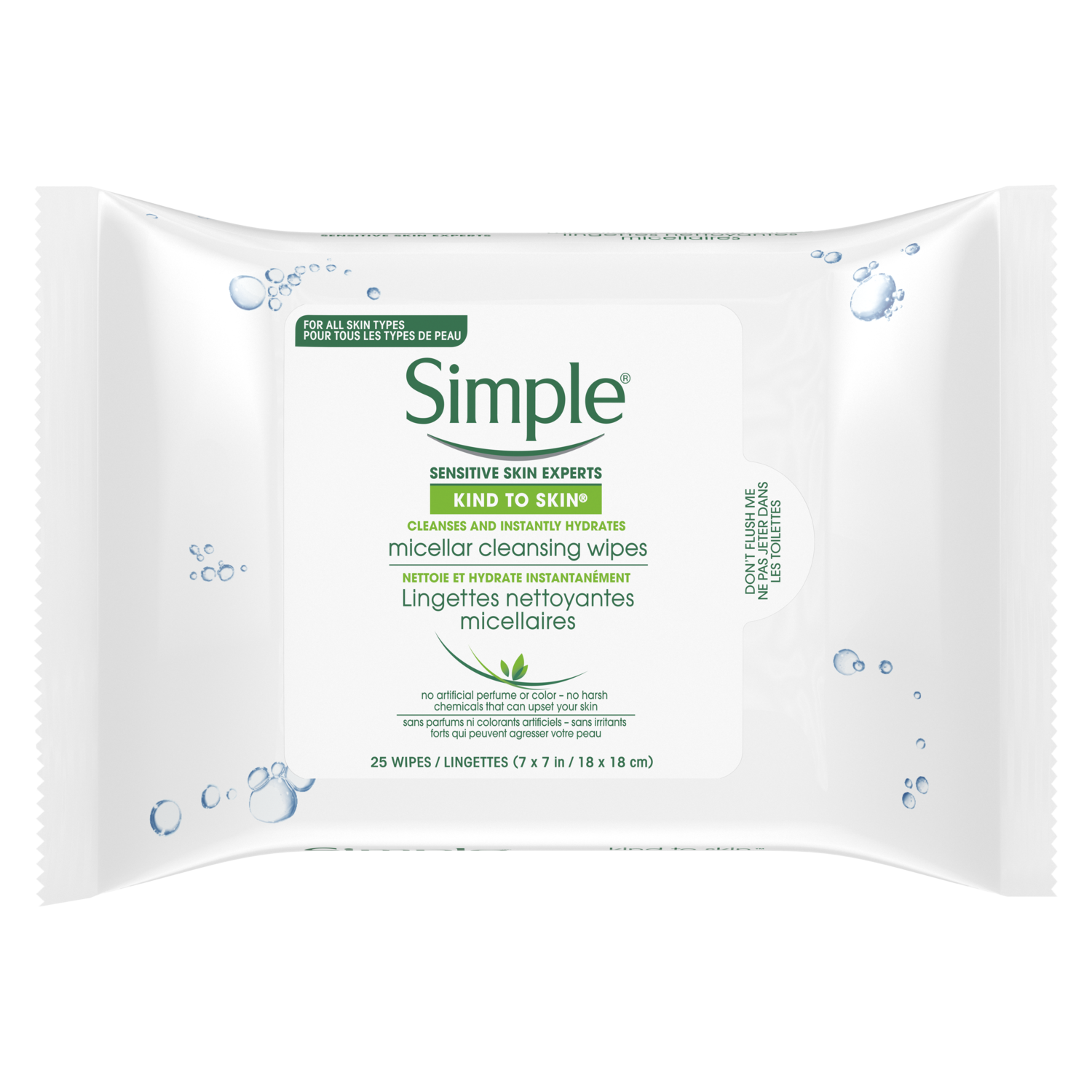 Kind to Skin Micellar Cleansing Wipes 25 wipes
