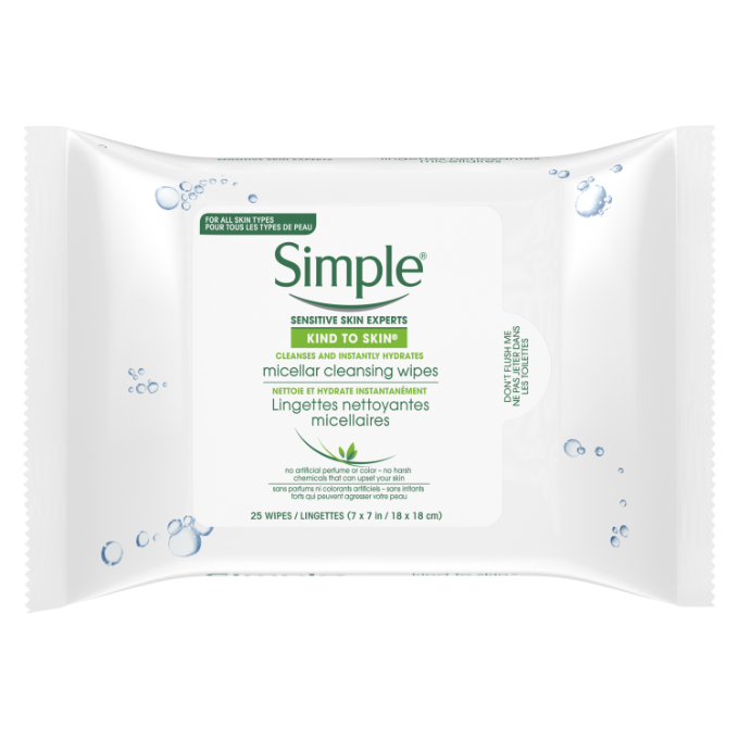 Simple Kind to Skin Micellar Makeup Remover Wipes